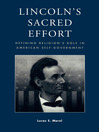Lincoln's Sacred Effort (eBook): Defining Religion's Role in American Self-Government