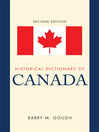 Historical Dictionary of Canada (eBook)