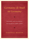 Germaine de Staël and German Women (eBook): Constructing Literary Authority