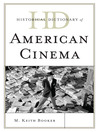 Historical Dictionary of American Cinema (eBook)