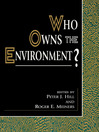 Who Owns the Environment? (eBook)