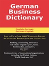 German Business Dictionary (eBook)