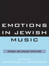 Emotions in Jewish Music (eBook): Personal and Scholarly Reflections