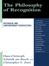 The Philosophy of Recognition (eBook): Historical and Contemporary Perspectives