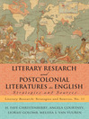 Literary Research and Postcolonial Literatures in English (eBook): Strategies and Sources