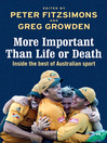 More Important than Life or Death (eBook): Inside the Best of Australian Sport