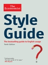 The Economist Style Guide (eBook)