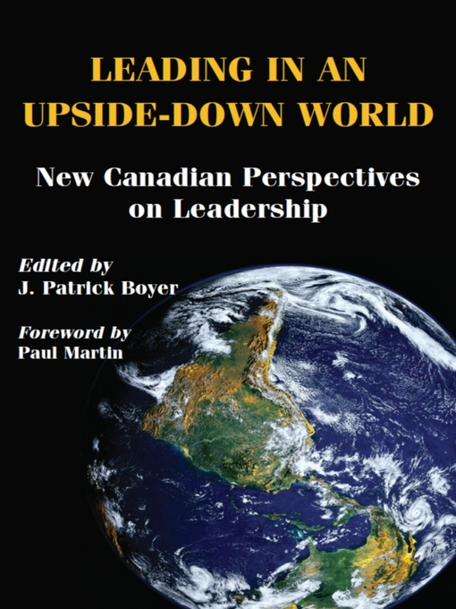 Leading in an Upside-Down World (eBook): New Canadian Perspectives on Leadership
