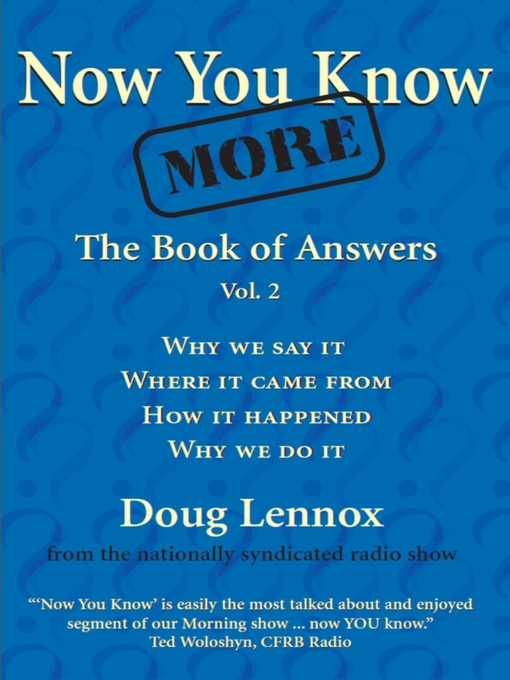 Now You Know More (eBook): The Book of Answers, Volume 2