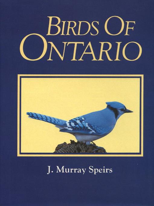 Birds of Ontario (Volume 1) (eBook)