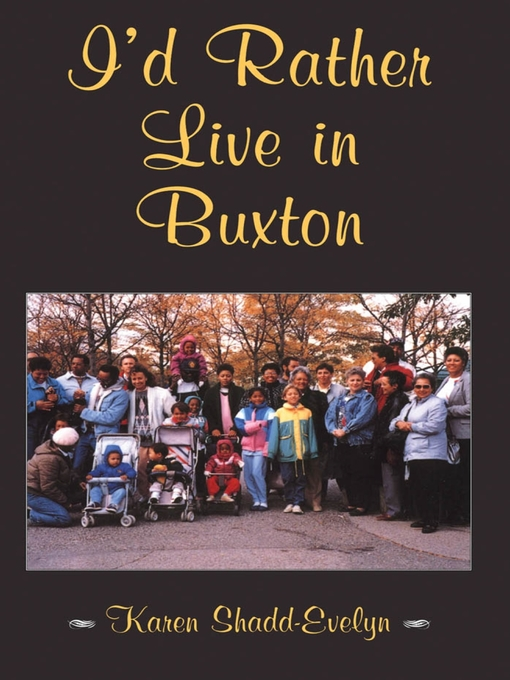 I'd Rather Live in Buxton (eBook)