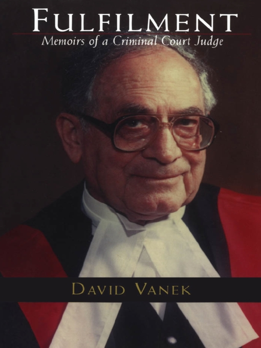 Fulfilment (eBook): Memoirs of a Criminal Court Judge