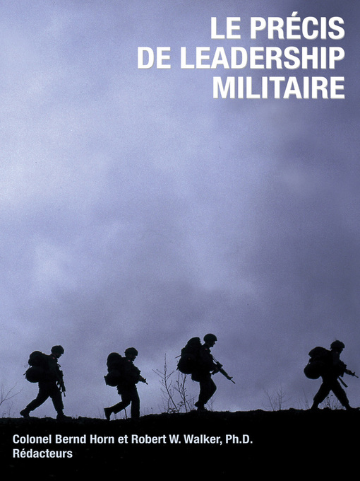 Le precis de leadership militaire (eBook)