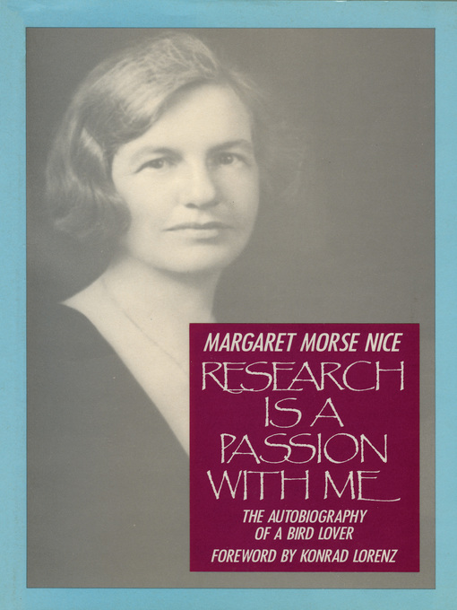 Research Is a Passion With Me (eBook): The Autobiography of a Bird Lover