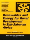 Renewables and Energy for Rural Development in Sub-Saharan Africa (eBook)