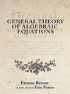General Theory of Algebraic Equations (eBook)