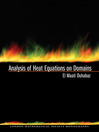 Analysis of Heat Equations on Domains (eBook)