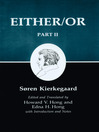 Kierkegaard's Writings, IV, Part II (eBook): Either/Or: Part II