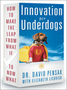 Innovation for Underdogs (eBook): How to Make the Leap from What If to Now What