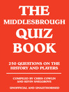 The Middlesbrough Quiz Book (eBook)