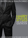 Harry Styles - The Ultimate Quiz Book (eBook)
