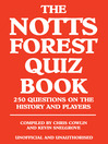The Notts Forest Quiz Book (eBook)