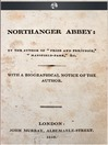 Northanger Abbey (eBook)