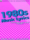1980s Music Lyrics: The Ultimate Quiz Book, Volume 1 (eBook)
