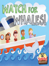 Watch for Whales! (eBook): Watch for Whales