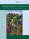 World Bank Engagement at the State Level (eBook): The Cases of Brazil, India, Nigeria, and Russia