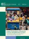Impact Evaluation of Business License Simplification in Peru (eBook): An Independent Assessment of an International Finance Corporation-Supported Project