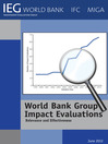 World Bank Group Impact Evaluations (eBook): Relevance and Effectiveness