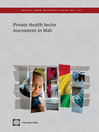 Private Health Sector Assessment in Mali (eBook): The Post-Bamako Initiative Reality
