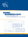 Doing Business 2013 (eBook): Smarter Regulations for Small and Medium-Size Enterprises