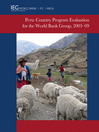 Peru (eBook): Country Program Evaluation for the World Bank Group, 2003-2009