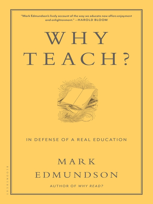 Why Teach? (eBook): In Defense of a Real Education