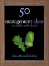 50 Management Ideas You Really Need to Know (eBook)