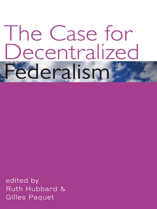 The Case for Decentralized Federalism (eBook)