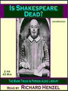 Is Shakespeare Dead? (MP3)