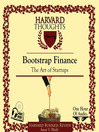 Bootstrap Finance (MP3): The Art of Startups