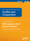 Conflict and Cooperation (eBook): Cases in Effectiveness: Promoting the Community's Future