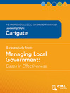 Cartgate (eBook): Cases in Effectiveness: The Professional Local Government Manager: Leadership Style: