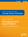 County Prison Overtime (eBook): Cases in Effectiveness: Essential Management Practices