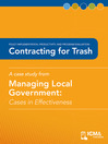Contracting for Trash (eBook): Cases in Effectiveness: Policy Implementation, Productivity, and Program Evaluation