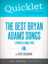 Quicklet on the Best Bryan Adams Songs (eBook): Lyrics and Analysis