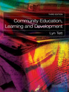 Community Education, Learning and Development (eBook)