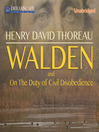 Walden (MP3): Or, Life in the Woods
