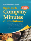 Ready-Made Company Minutes & Resolutions (eBook): What Every Busy Company Secretary or Company Record-keeper Needs