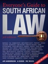 Everyone's Guide to South African Law (eBook)