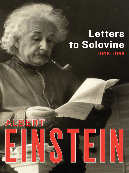 Letters to Solovine (eBook): 1906-1955